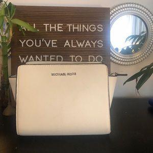 Michael Korea's mini Selma messenger bag white